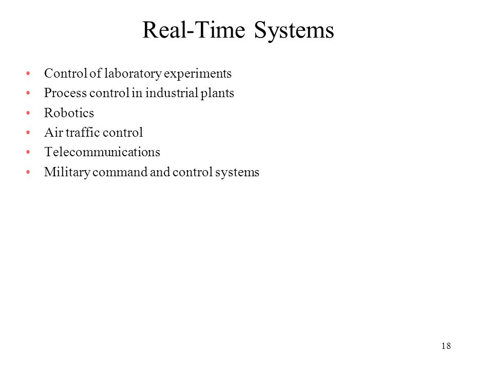 characteristics of real time operating system pdf