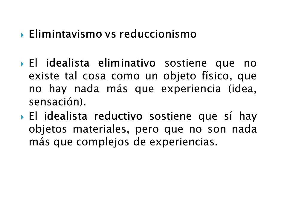 Elimintavismo vs reduccionismo