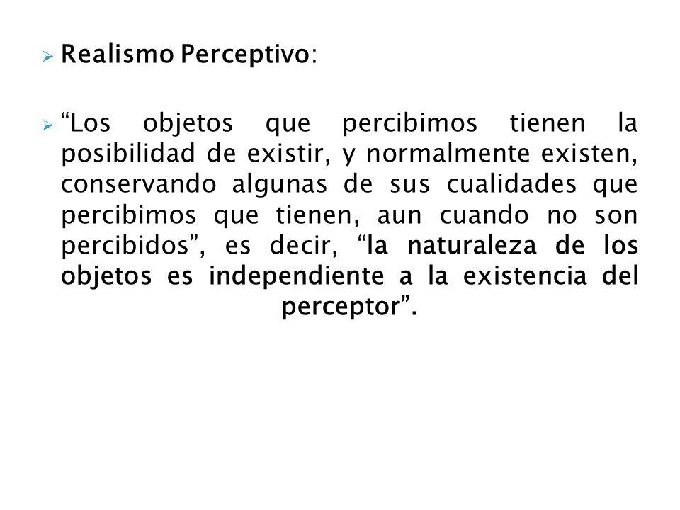 Realismo Perceptivo: