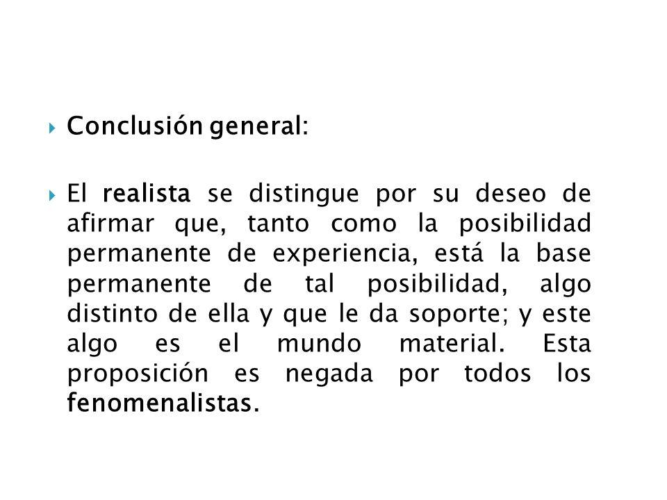Conclusión general: