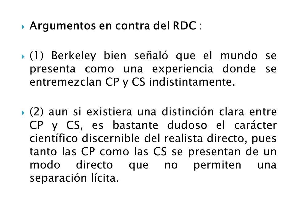 Argumentos en contra del RDC :