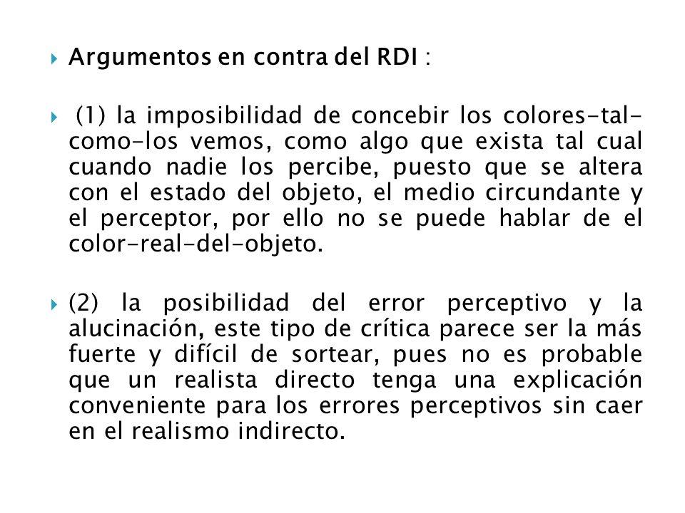 Argumentos en contra del RDI :