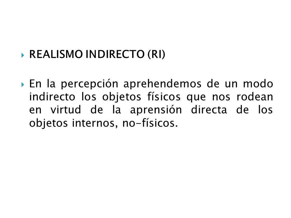 REALISMO INDIRECTO (RI)