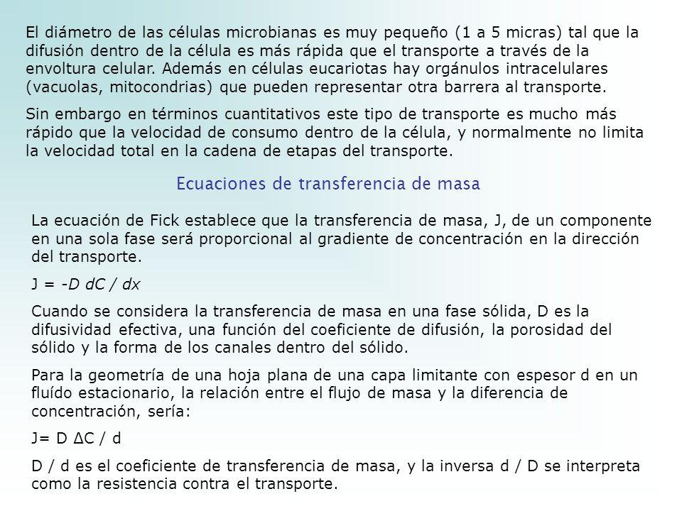 Ecuaciones de transferencia de masa