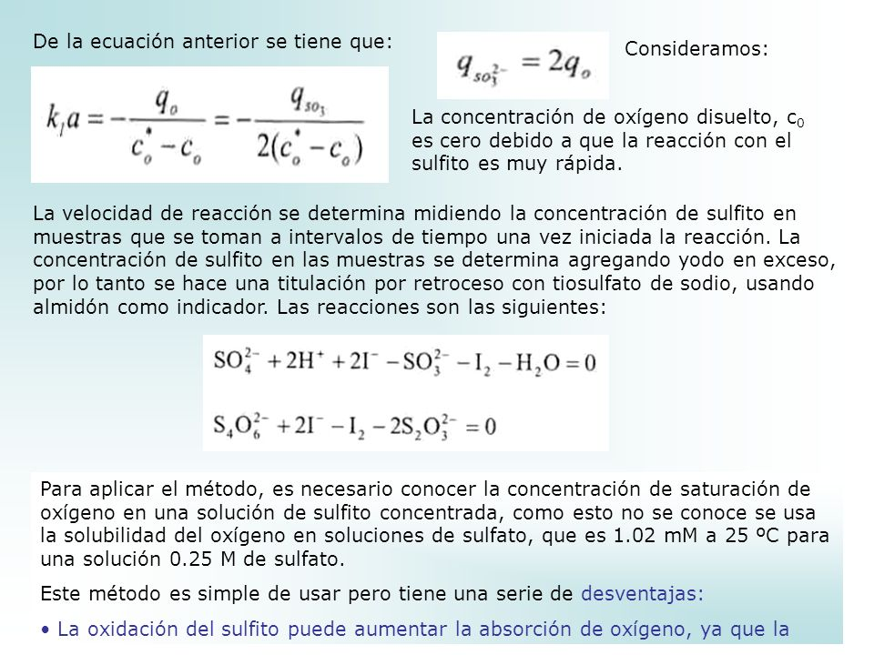 De la ecuación anterior se tiene que: