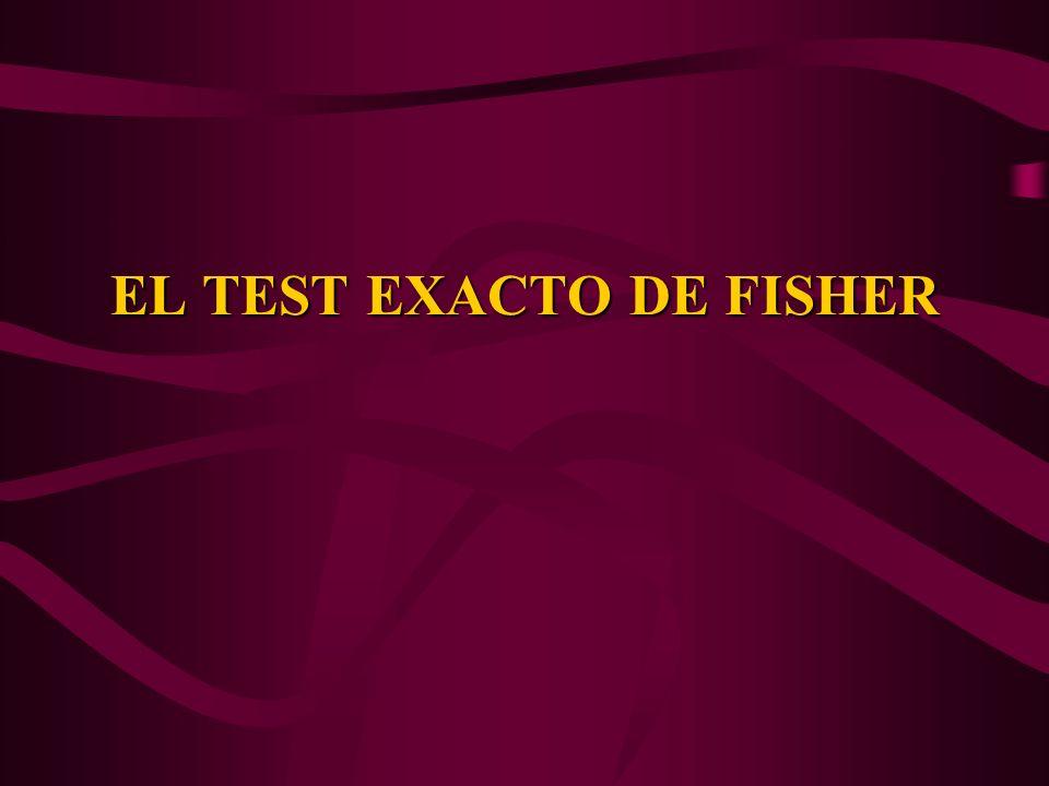 EL TEST EXACTO DE FISHER