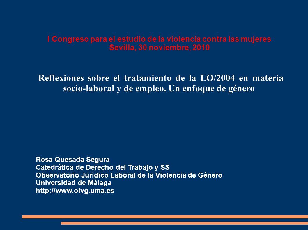 I Congreso para el estudio de la violencia contra las mujeres