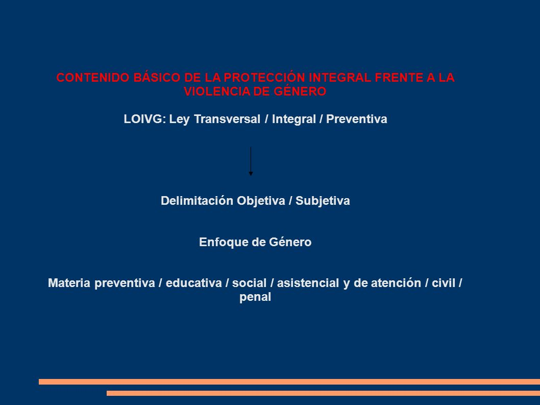 LOIVG: Ley Transversal / Integral / Preventiva