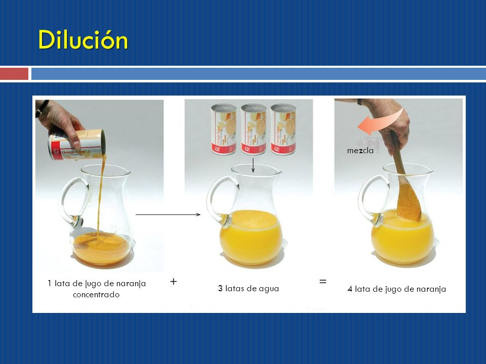 1 lata de jugo de naranja concentrado