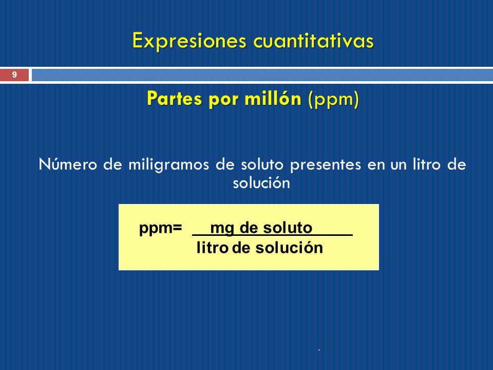 Expresiones cuantitativas