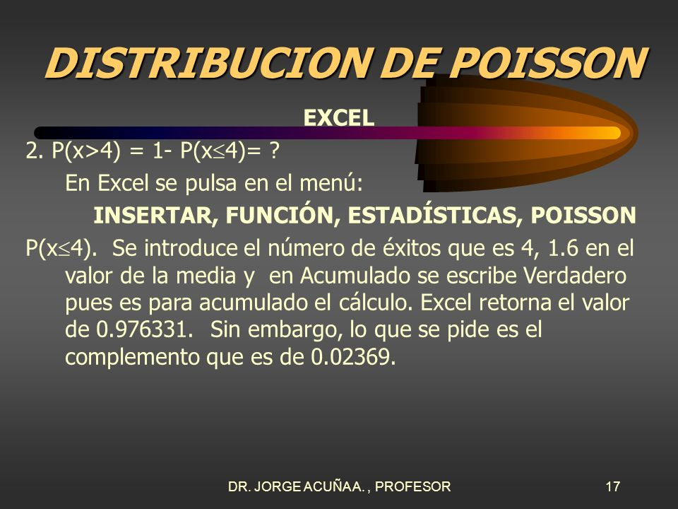 DISTRIBUCION DE POISSON
