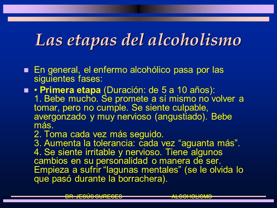 Las etapas del alcoholismo