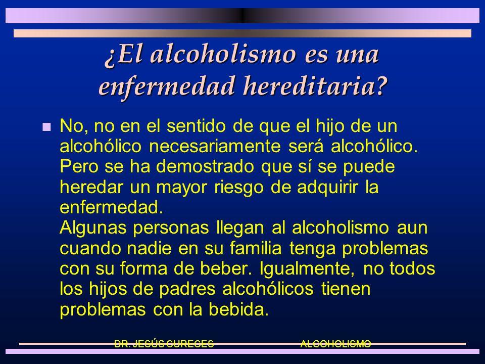 ¿El alcoholismo es una enfermedad hereditaria