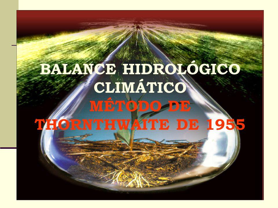 MÉTODO DE THORNTHWAITE DE 1955