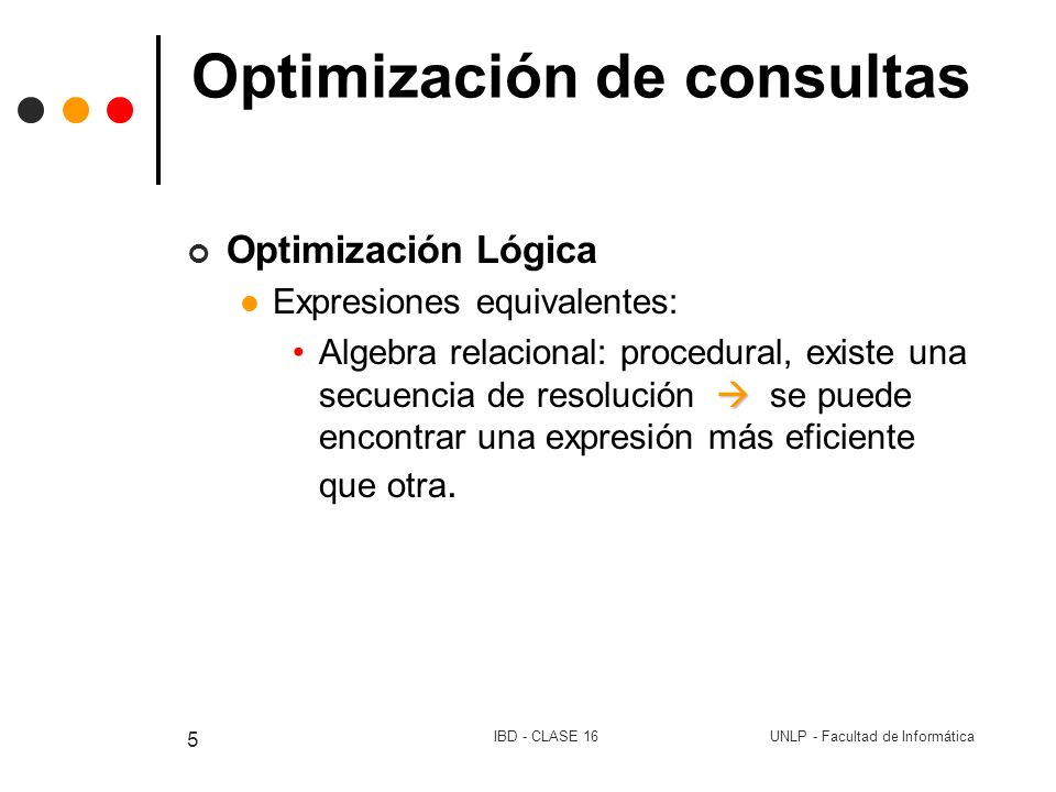 Optimización de consultas