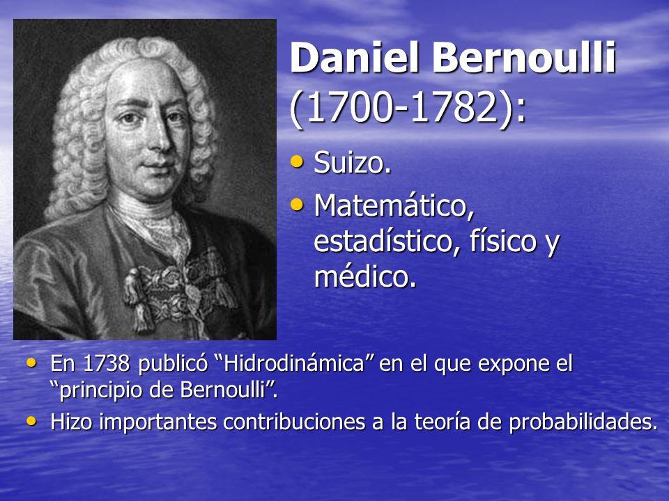 Daniel Bernoulli (1700-1782): Suizo.