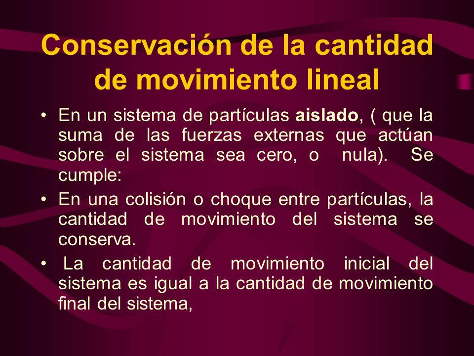 Conservación de la cantidad de movimiento lineal