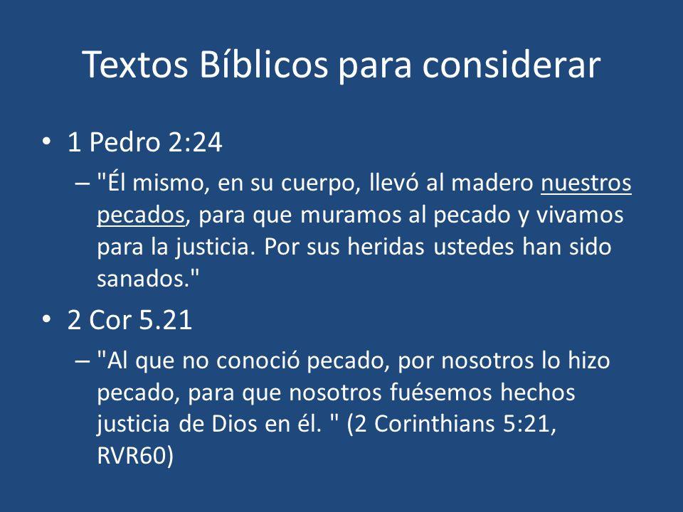 Textos Bíblicos para considerar