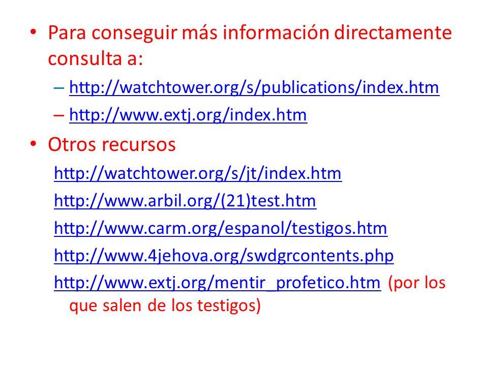 Para conseguir más información directamente consulta a: