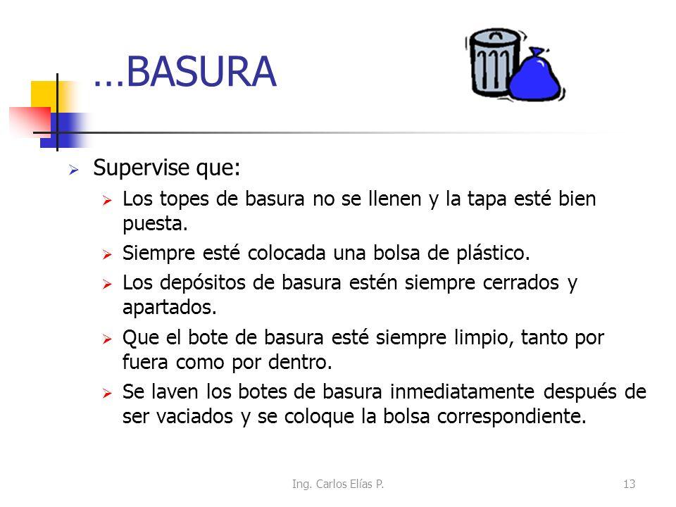 …BASURA Supervise que: