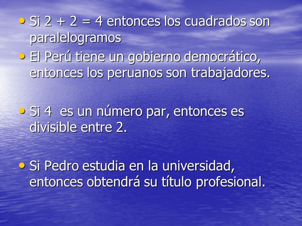 Si 2 + 2 = 4 entonces los cuadrados son paralelogramos