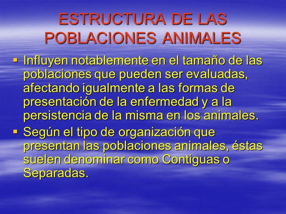 ESTRUCTURA DE LAS POBLACIONES ANIMALES