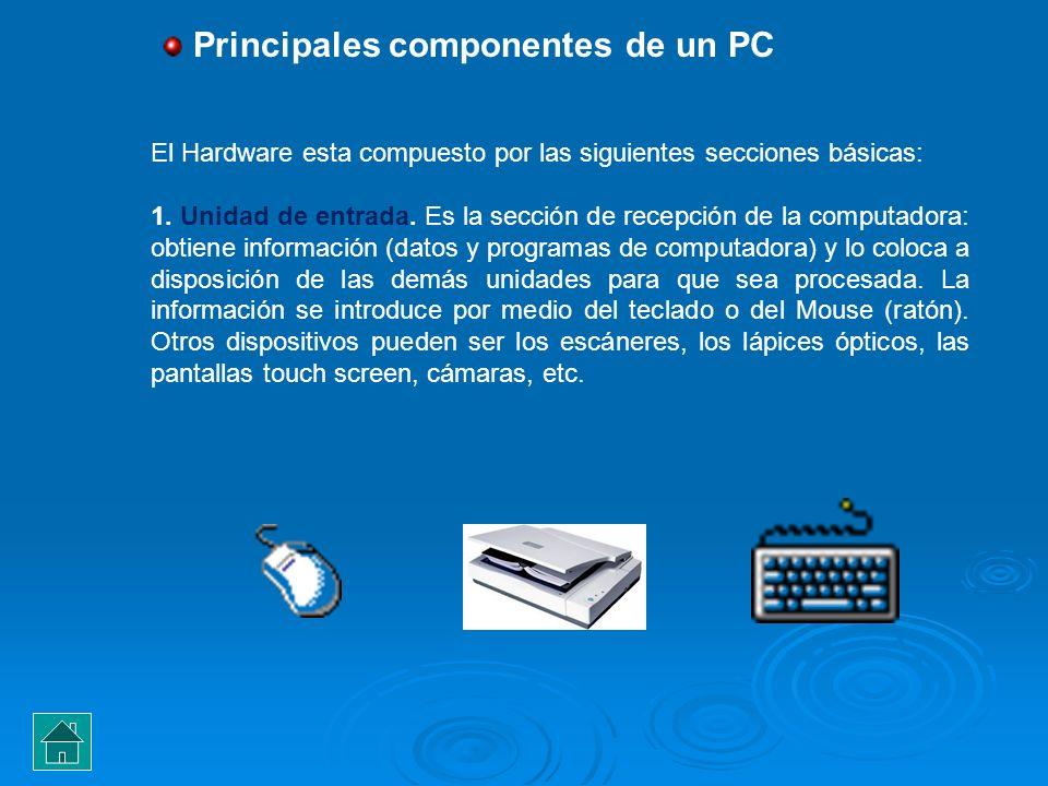 Principales componentes de un PC