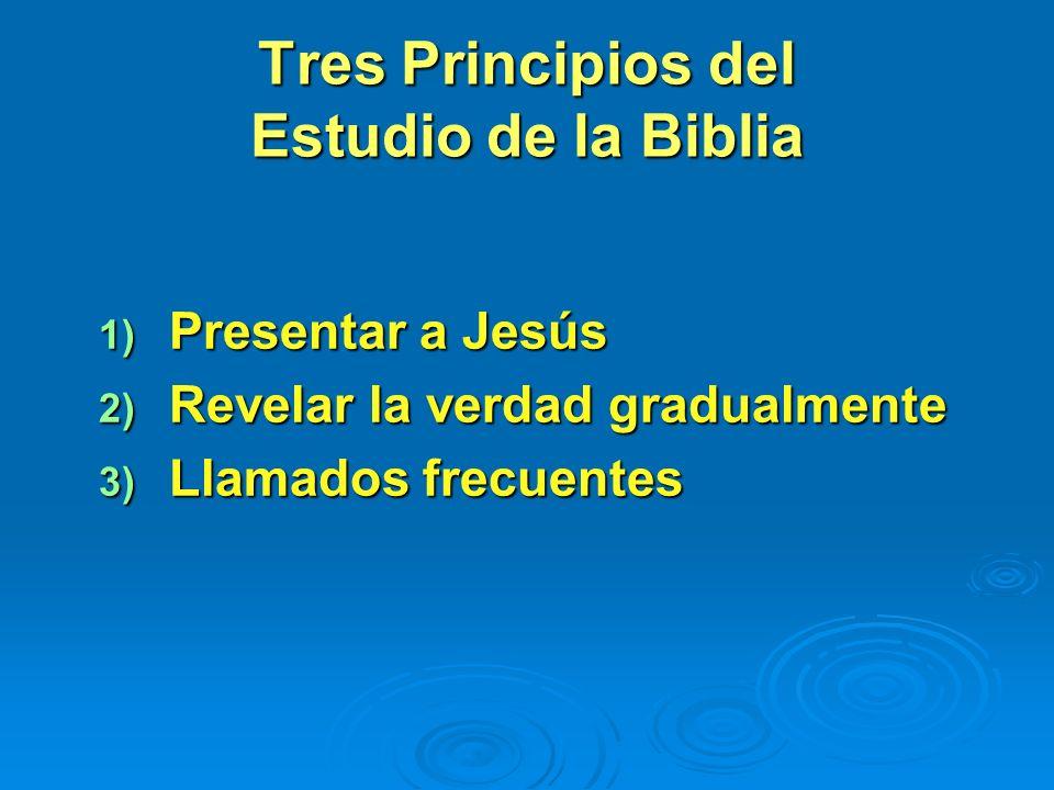 Tres Principios del Estudio de la Biblia