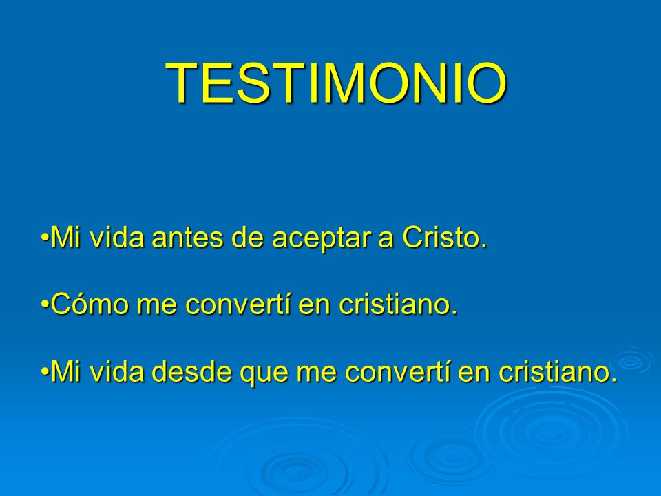 TESTIMONIO Mi vida antes de aceptar a Cristo.