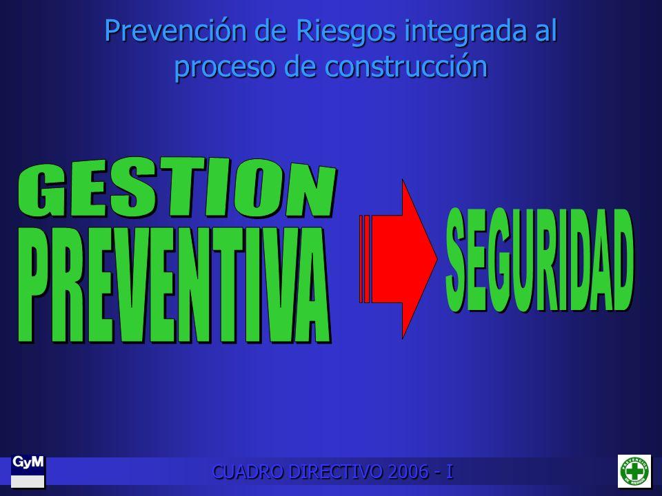 Prevención de Riesgos integrada al proceso de construcción