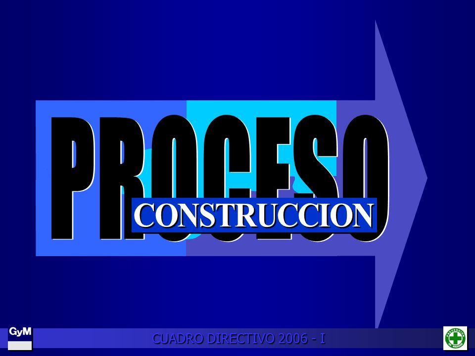 PROCESO CONSTRUCCION CUADRO DIRECTIVO 2006 - I