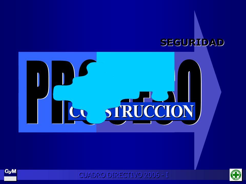 SEGURIDAD PROCESO CONSTRUCCION CUADRO DIRECTIVO 2006 - I