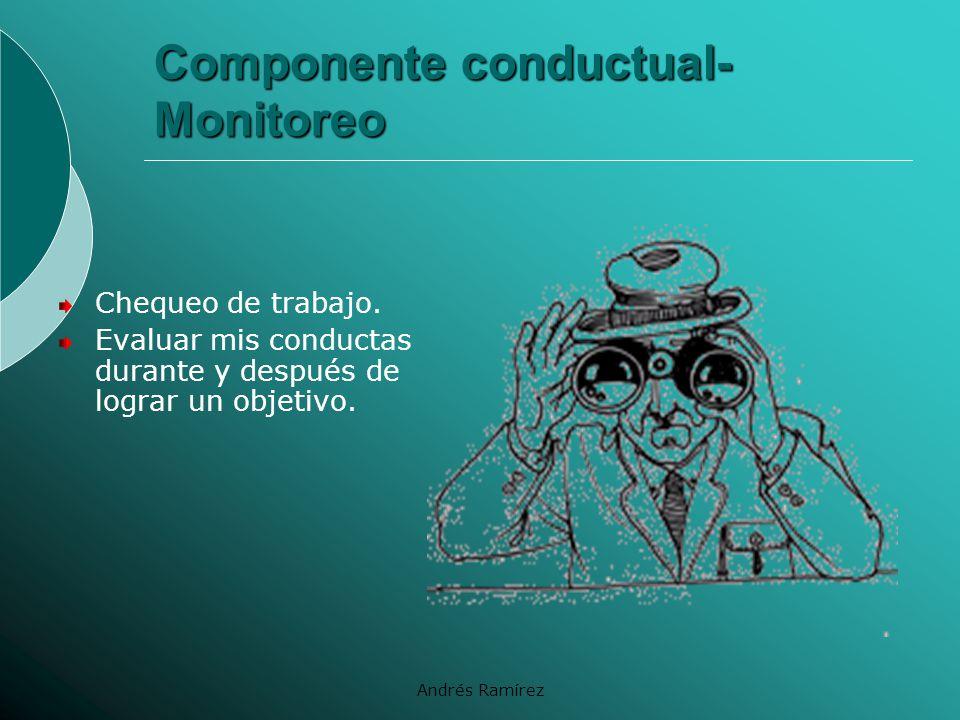 Componente conductual- Monitoreo