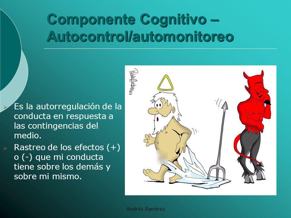 Componente Cognitivo – Autocontrol/automonitoreo