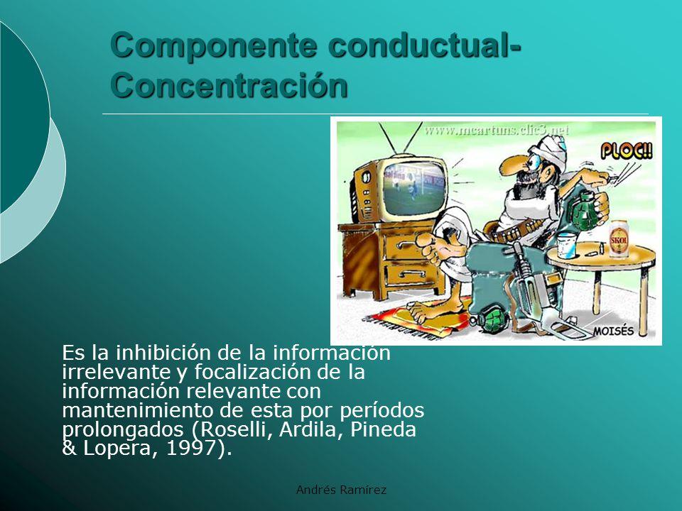 Componente conductual- Concentración