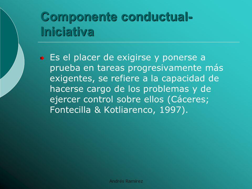 Componente conductual- Iniciativa