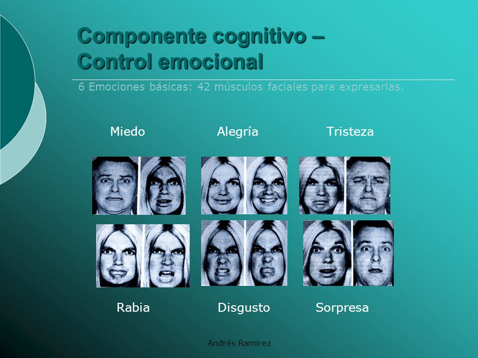 Componente cognitivo – Control emocional