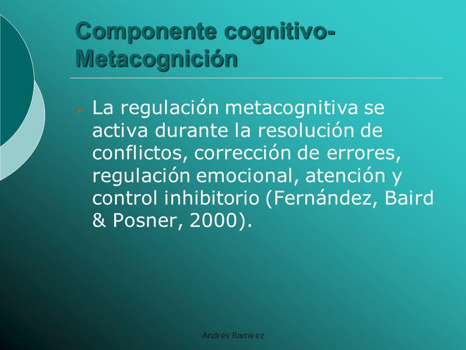 Componente cognitivo- Metacognición