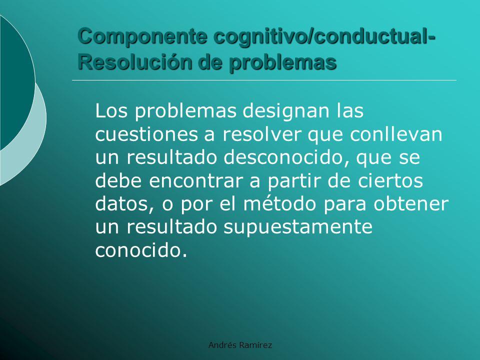 Componente cognitivo/conductual- Resolución de problemas