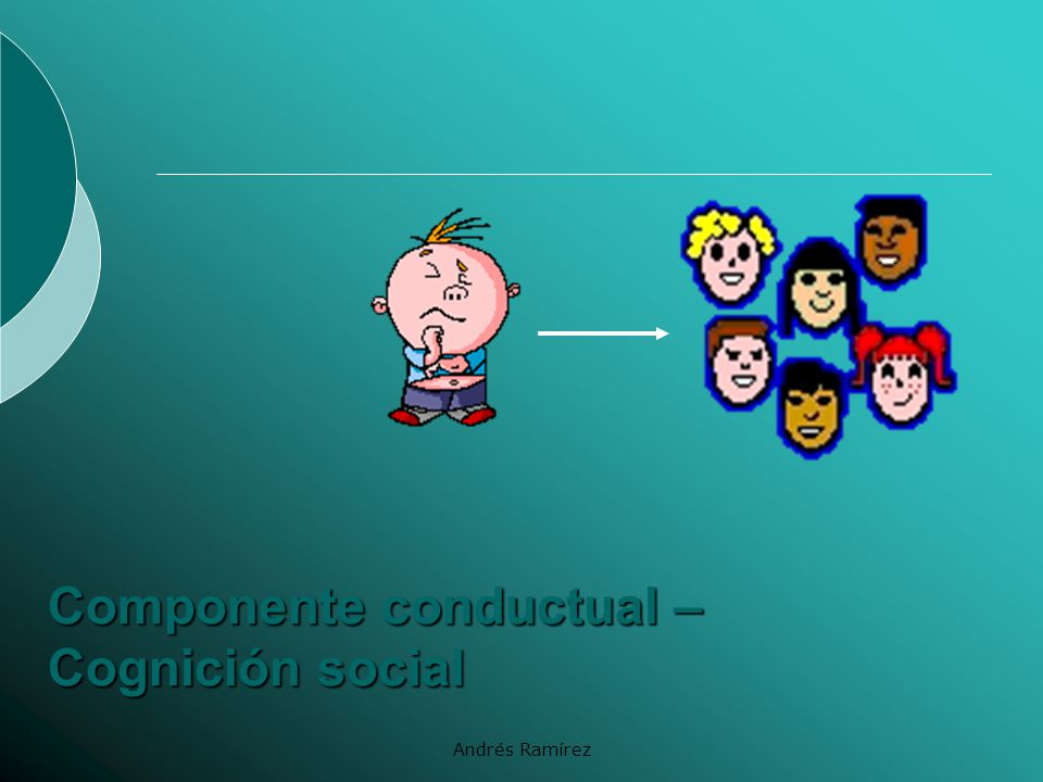 Componente conductual – Cognición social