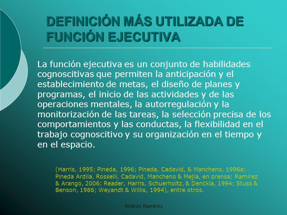 DEFINICIÓN MÁS UTILIZADA DE FUNCIÓN EJECUTIVA
