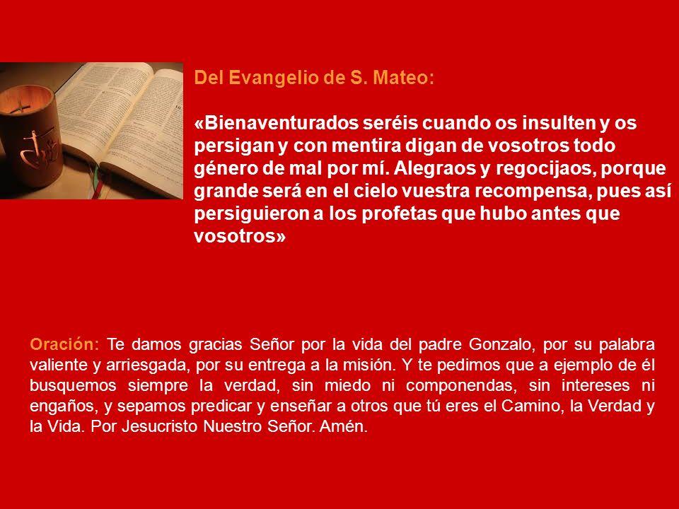 Del Evangelio de S. Mateo: