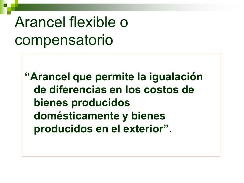 Arancel flexible o compensatorio
