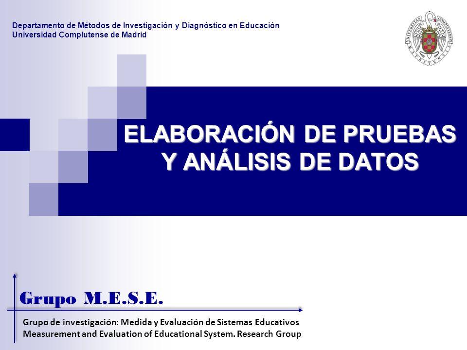 ELABORACIÓN DE PRUEBAS Y ANÁLISIS DE DATOS