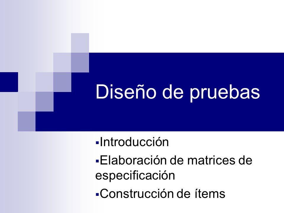 Diseño de pruebas Introducción