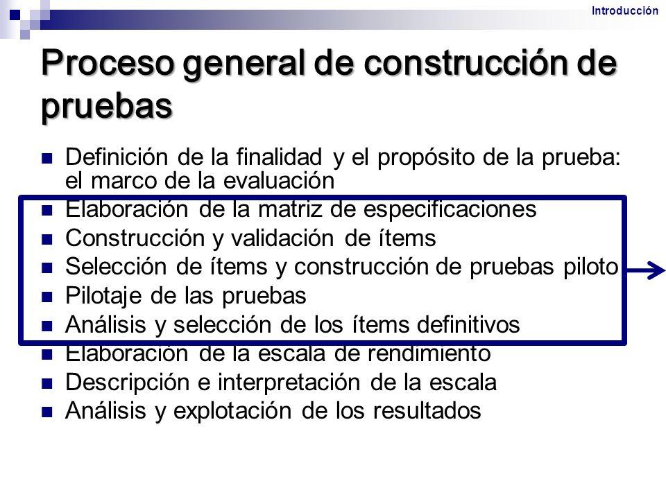 Proceso general de construcción de pruebas