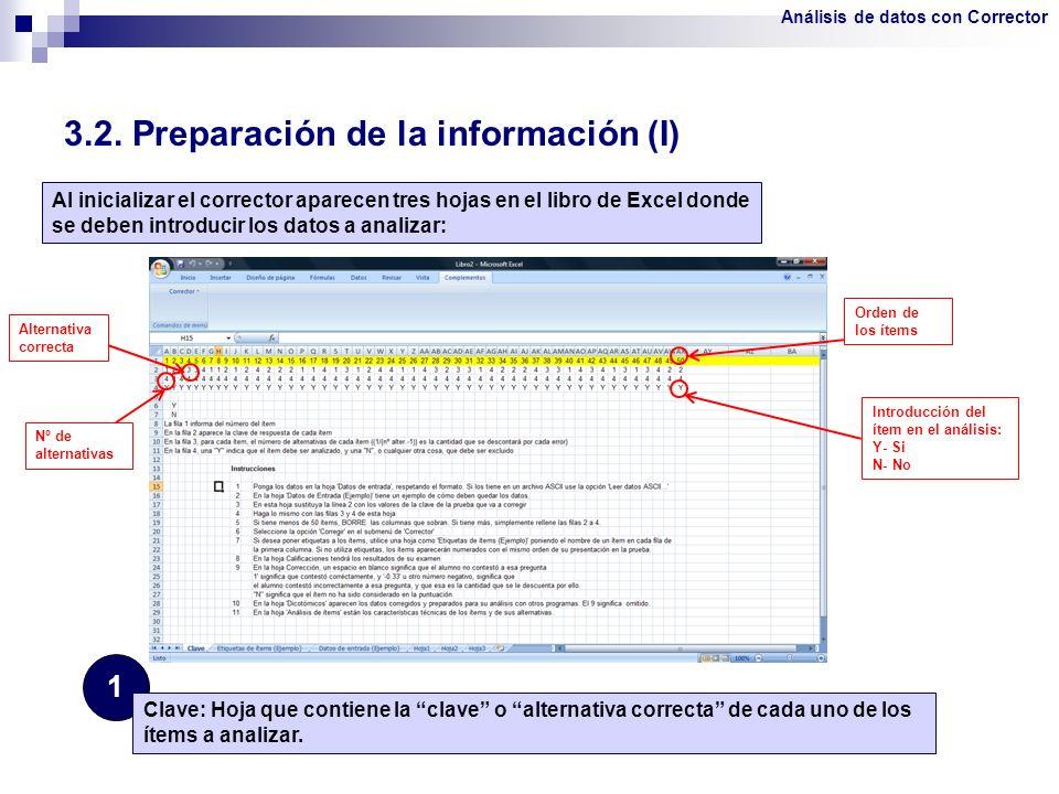 3.2. Preparación de la información (I)