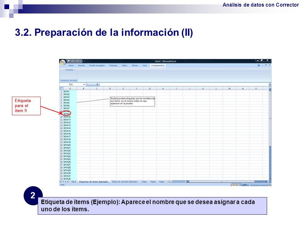 3.2. Preparación de la información (II)
