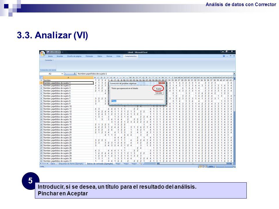 Análisis de datos con Corrector