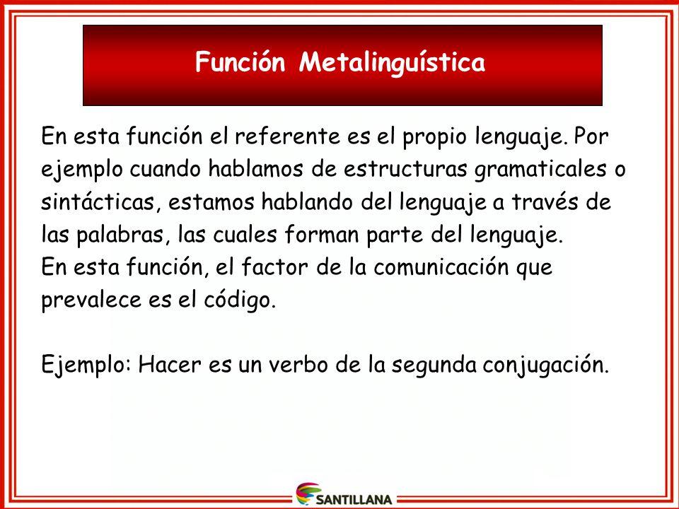Función Metalinguística